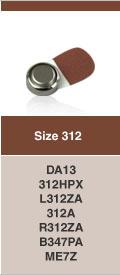 Type 312 hoorbatterijen, kleurcode BRUIN