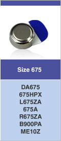 Type 675 hoorbatterijen, kleurcode BLAUW